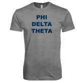 Next Level Premium Heather Tri Blend Crew-Phi Delta Theta Stacked