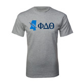 Grey T Shirt-Mississippi w/ Greek Letters