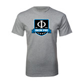 Grey T Shirt-Iron Phi Shield