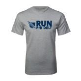 Grey T Shirt-Run Phi Delt