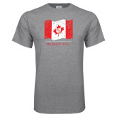 Grey T Shirt-Phi Delta Theta Canadian Flag Design