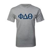 Grey T Shirt-Phi Delta Theta Symbols