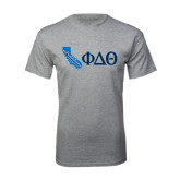 Sport Grey T Shirt-California w/ Greek Letters