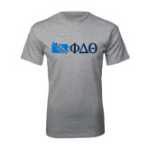 Sport Grey T Shirt-Pennsylvania w/ Greek Letters