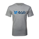 Grey T Shirt-Ohio w/ Greek Letters