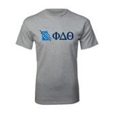 Sport Grey T Shirt-Missouri w/ Greek Letters