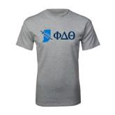 Sport Grey T Shirt-Indiana w/ Greek Letters
