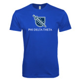 Next Level SoftStyle Royal T Shirt-Stacked Shield/Phi Delta Theta