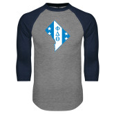 Grey/Navy Raglan Baseball T Shirt-Washington D.C.