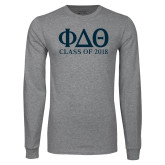Grey Long Sleeve T Shirt-Class of Design