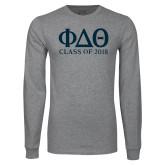 Grey Long Sleeve T Shirt-Class of Design