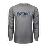 Grey Long Sleeve T Shirt-Founders Day 1848