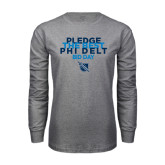Grey Long Sleeve T Shirt-Pledge The Best