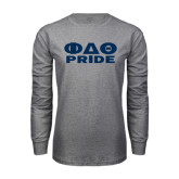 Grey Long Sleeve T Shirt-Phi Delta Theta Pride