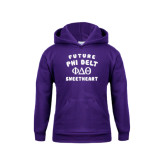 Youth Purple Fleece Hoodie-Future Phi Delt Sweetheart