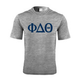 Performance Grey Heather Contender Tee-Phi Delta Theta Symbols