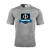 Performance Grey Heather Contender Tee-Iron Phi Shield