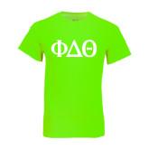 Neon Green T Shirt-Phi Delta Theta Symbols