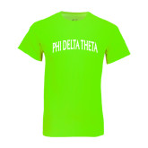 Neon Green T Shirt-Arched Phi Delta Theta