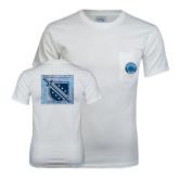 White T Shirt w/Pocket-Kleberg Shirt Design