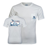 White T Shirt w/Pocket-Phi Delta Theta - 80th Biennial Convention 2014 - Back