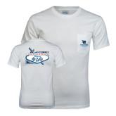 White T Shirt w/Pocket-Phi Delta Theta - 80th Biennial Convention 2014 - Back