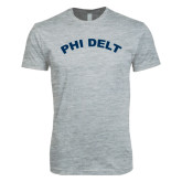 Next Level SoftStyle Heather Grey T Shirt-Phi Delt Arc