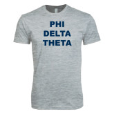 Next Level SoftStyle Heather Grey T Shirt-Phi Delta Theta Stacked