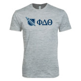 Next Level SoftStyle Heather Grey T Shirt-Shield/Phi Delta Theta Symbols