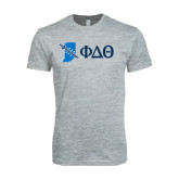 Next Level SoftStyle Heather Grey T Shirt-Indiana w/ Greek Letters