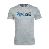 Next Level SoftStyle Heather Grey T Shirt-Texas w/ Greek Letters