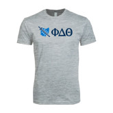 Next Level SoftStyle Heather Grey T Shirt-Ohio w/ Greek Letters