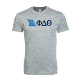 Next Level SoftStyle Heather Grey T Shirt-Missouri w/ Greek Letters