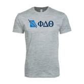 Next Level SoftStyle Heather Grey T Shirt-Missouri w/ Greek Letters