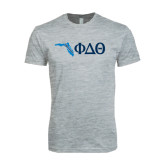 Next Level SoftStyle Heather Grey T Shirt-Florida w/ Greek Letters