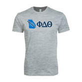 Next Level SoftStyle Heather Grey T Shirt-Georgia w/ Greek Letters