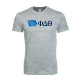 Next Level SoftStyle Heather Grey T Shirt-Iowa w/ Greek Letters