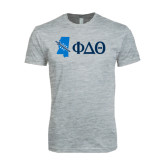 Next Level SoftStyle Heather Grey T Shirt-Mississippi w/ Greek Letters