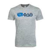 Next Level SoftStyle Heather Grey T Shirt-Washington w/ Greek Letters