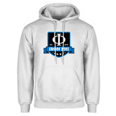 White Fleece Hoodie-Iron Phi Shield