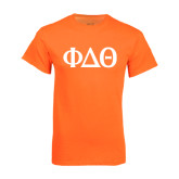 Neon Orange T Shirt-Phi Delta Theta Symbols