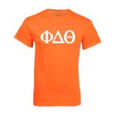 Neon Orange T Shirt-Phi Delta Theta Symbols
