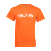Neon Orange T Shirt-Arched Phi Delta Theta