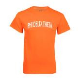 Neon Orange T Shirt-Arched Phi Delta Theta