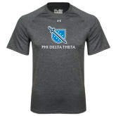 Under Armour Carbon Heather Tech Tee-Stacked Shield/Phi Delta Theta