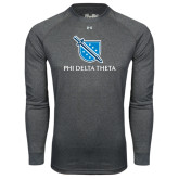 Under Armour Carbon Heather Long Sleeve Tech Tee-Stacked Shield/Phi Delta Theta