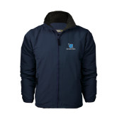 Navy Charger Jacket-Stacked Shield/Phi Delta Theta