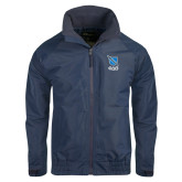 Navy Charger Jacket-Stacked Shield/Phi Delta Theta Symbols