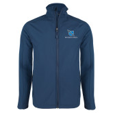 Navy Softshell Jacket-Stacked Shield/Phi Delta Theta