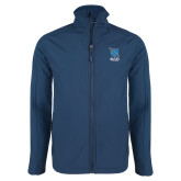 Navy Softshell Jacket-Stacked Shield/Phi Delta Theta Symbols
